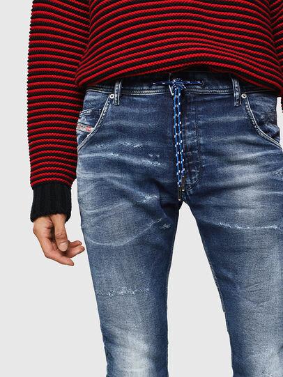 Diesel - Krooley JoggJeans 0096M, Bleu Foncé - Jeans - Image 3