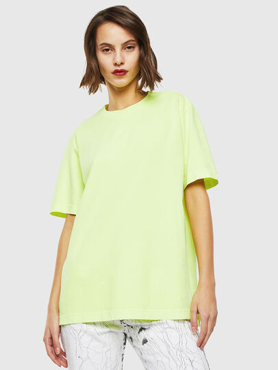 Diesel - T-JUST-SLITS-FLUO, Jaune Fluo - T-Shirts - Image 2