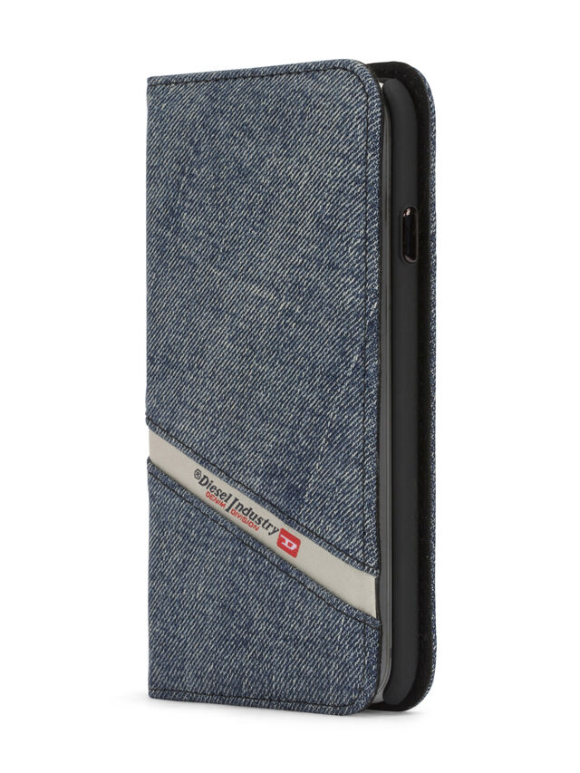 Diesel - DENIM IPHONE 8 PLUS/7 PLUS FOLIO, Jean Bleu - Coques à rabat - Image 2