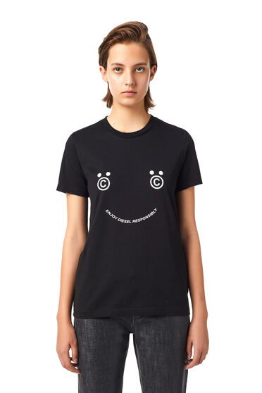 T-shirt Green Label avec smiley