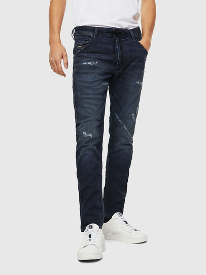 Diesel - Krooley JoggJeans 069KB, Bleu Foncé - Jeans - Image 1