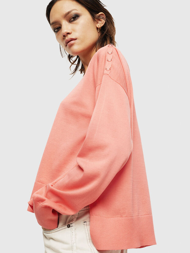M-PERLA-A, Rose - Pull Maille