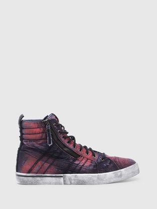 b8332a5e5233e8 D-VELOWS MID LACE, Bleu/Rouge - Baskets. 3 Couleur. Sneakers montantes ...