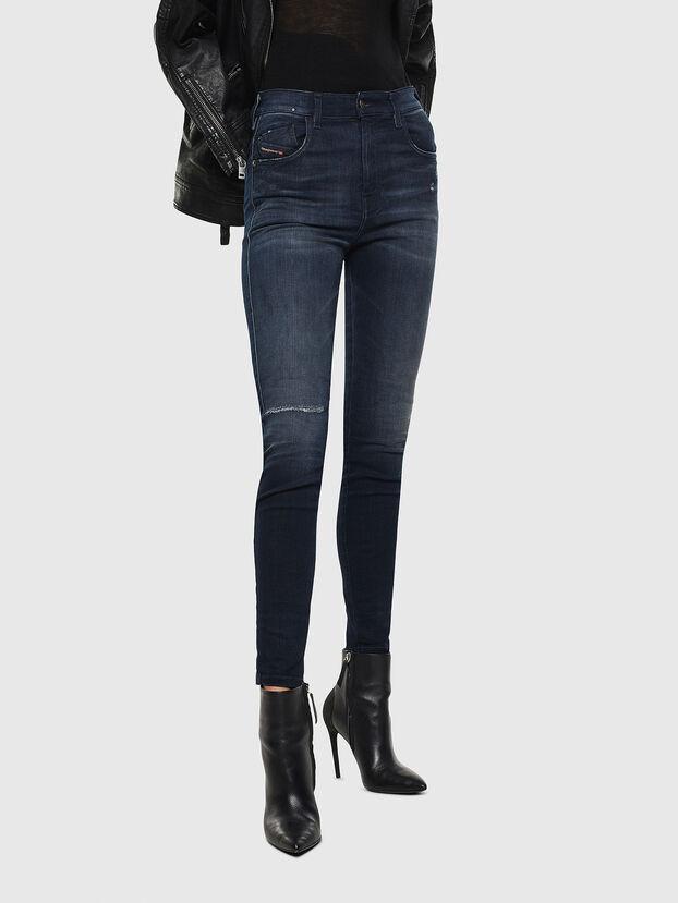 Slandy High 0870C, Bleu Foncé - Jeans