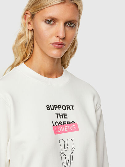 Diesel - F-ANG-R10, Blanc - Pull Cotton - Image 4