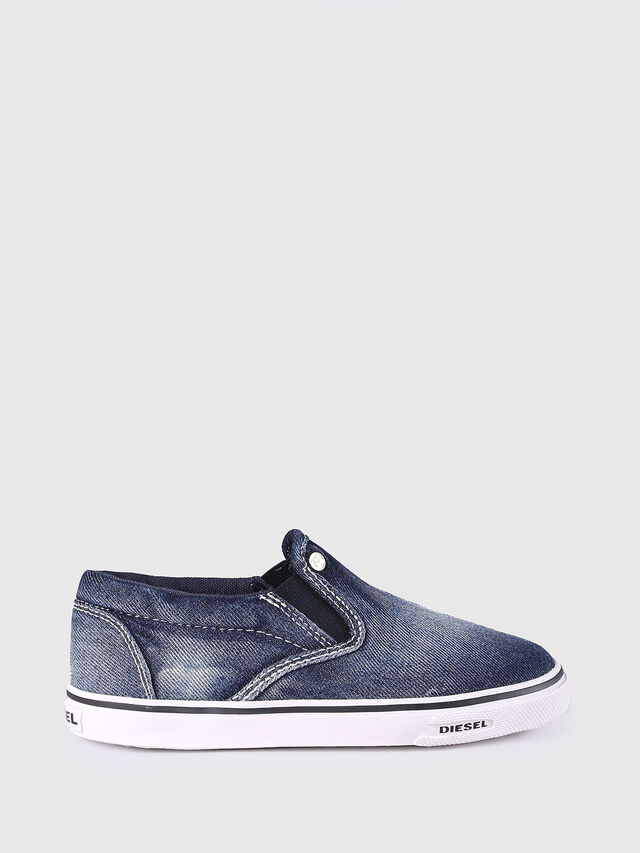 Diesel - SLIP ON 21 DENIM CH, Jean Bleu - Footwear - Image 1