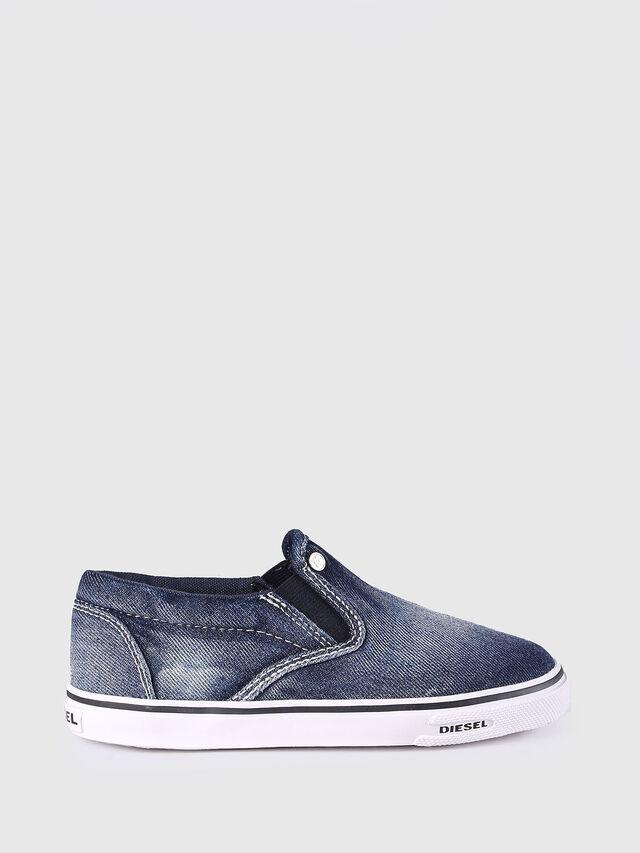 Diesel - SLIP ON 21 DENIM CH, Jean Bleu - Footwear - Image 1