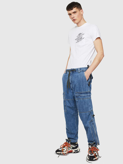Diesel - T-WORKY-S1, Blanc - T-Shirts - Image 4