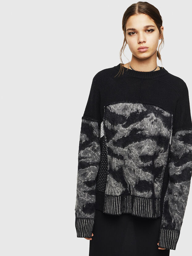 M-POST, Noir - Pull Maille