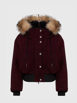 W-SAMOEI-A, Noir/Rouge - Vestes d'hiver