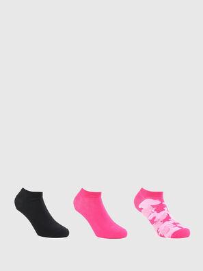 SKM-GOST-THREEPACK, Noir/Rose - Chaussettes