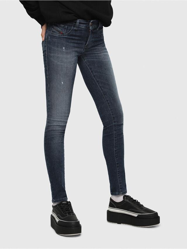 Diesel - Livier 0687L, Bleu Foncé - Jeans - Image 1