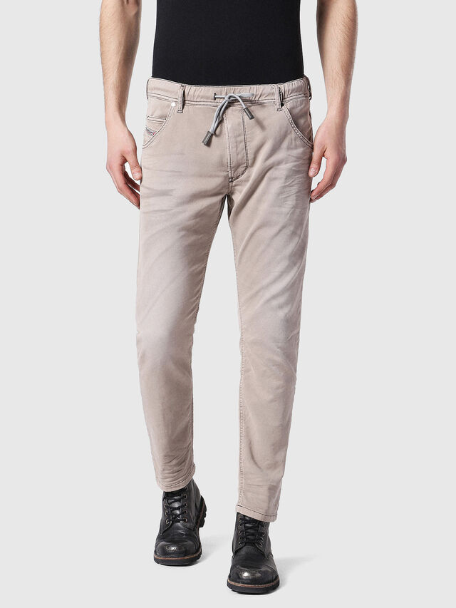 Diesel - Krooley JoggJeans 0670M, Marron Clair - Jeans - Image 1