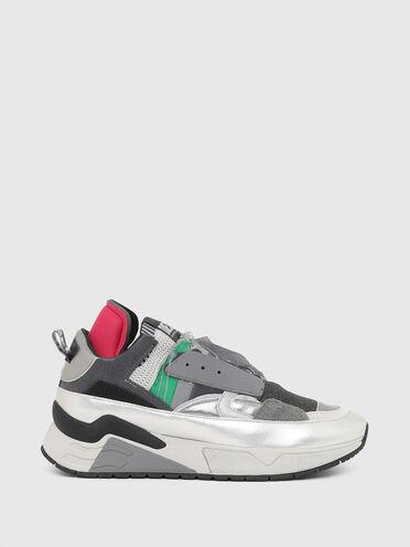 Sneakers sans lacets avec bords métalliques