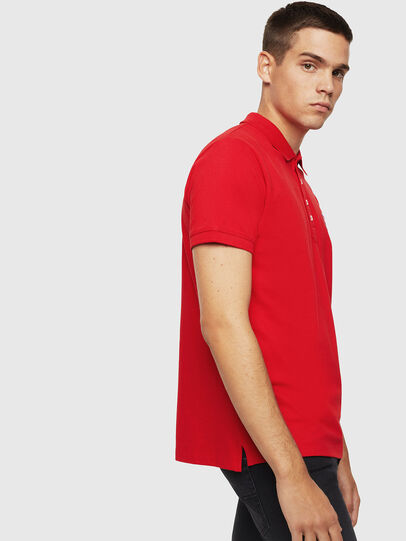 Diesel - T-KAL-PATCH, Rouge - Polos - Image 4