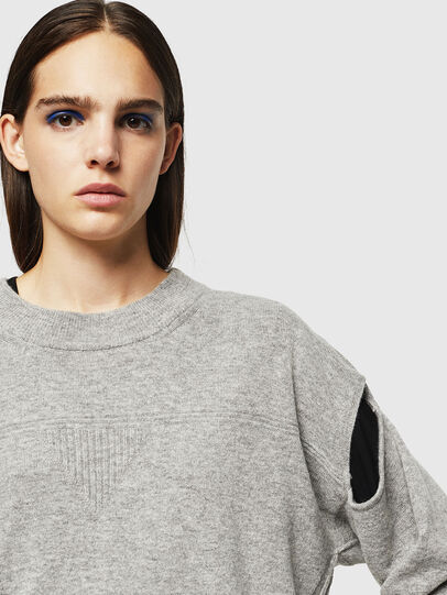 Diesel - M-CRISTAL, Gris - Pull Maille - Image 4