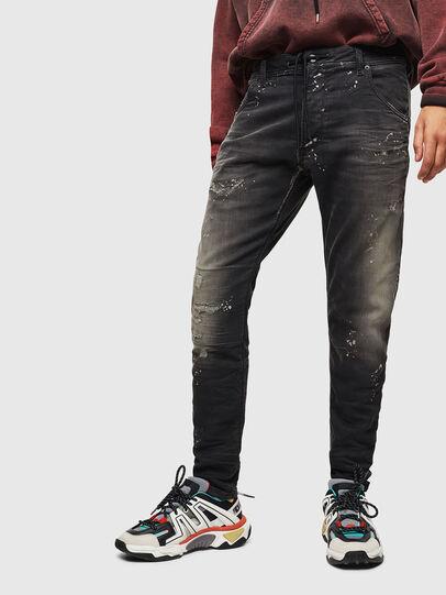 Diesel - Krooley JoggJeans 084AE, Noir/Gris foncé - Jeans - Image 1