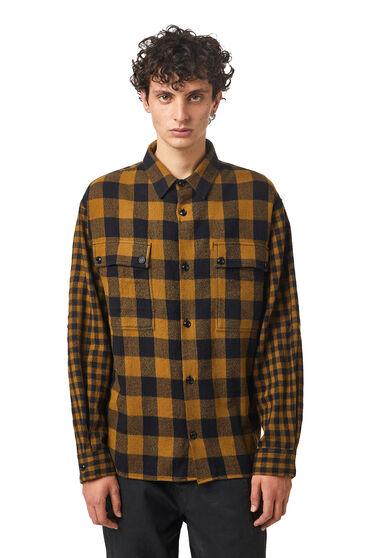 Chemise en flanelle de laine vierge à carreaux