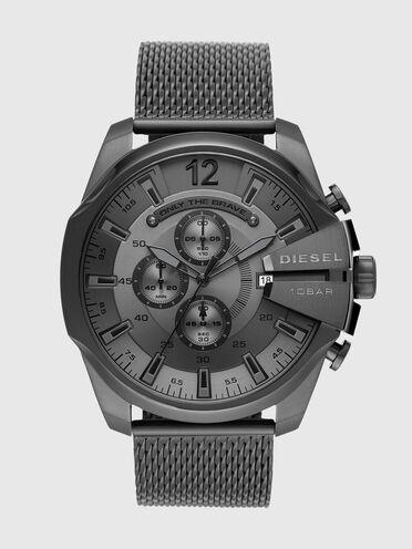 Montre Mega Chief chronographe en acier inoxydable gris plomb