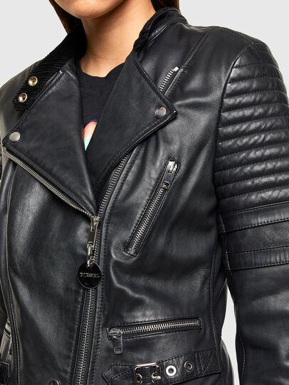 Diesel - L-IGE-NEW-A, Noir - Vestes de cuir - Image 3