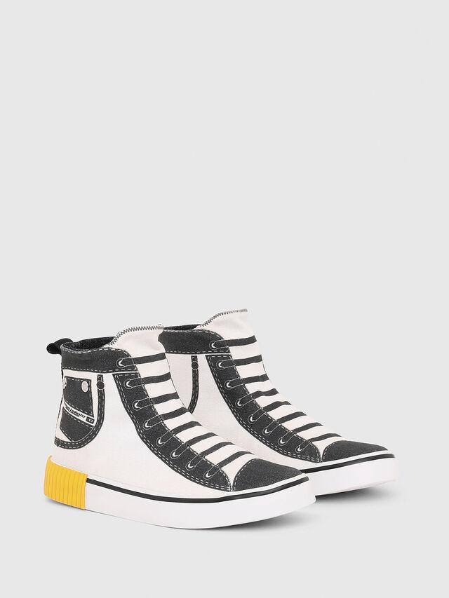 Diesel - SN MID 08 GRAPHIC CH, Blanc/Noir - Footwear - Image 2