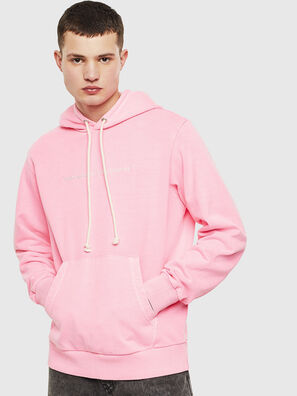 S-GIRK-HOOD-FLUO, Rose - Pull Cotton