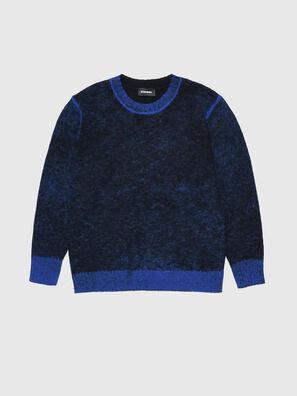 KCONF, Noir/Bleu - Pull Maille