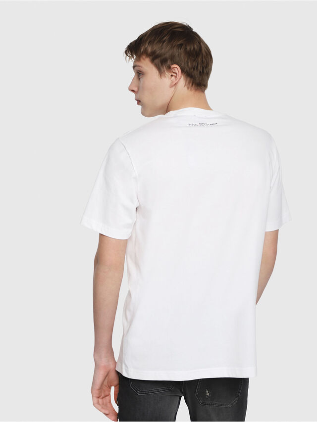 Diesel - T-JUST-YB, Blanc - T-Shirts - Image 2