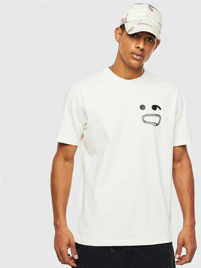 Diesel - T-JUST-T14, Blanc - T-Shirts - Image 1