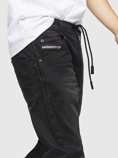 Diesel - Krooley Long JoggJeans 0670M, Noir - Jeans - Image 3