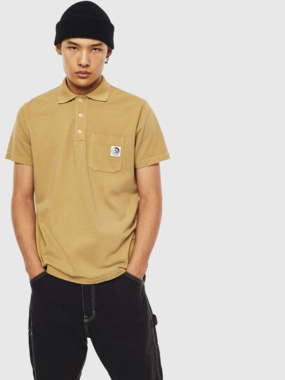 Diesel - T-POLO-WORKY, Marron Clair - Polos - Image 1