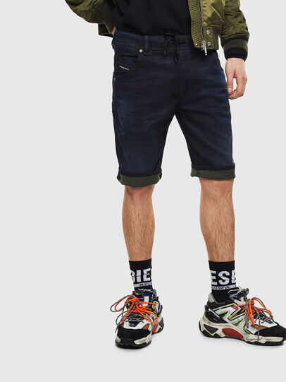 Diesel - D-KROOSHORT JOGGJEANS, Bleu Foncé - Shorts - Image 6