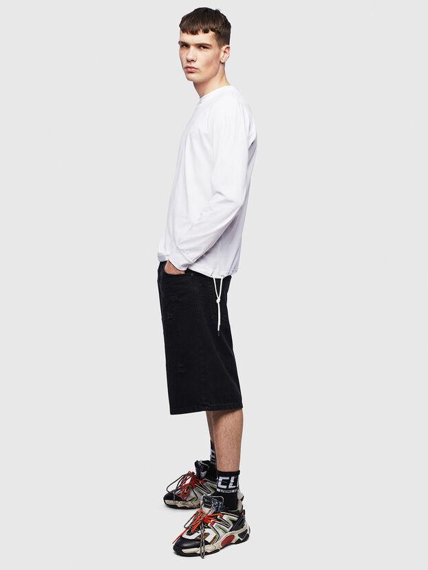 T-HUSTY-LS, Blanc - T-Shirts