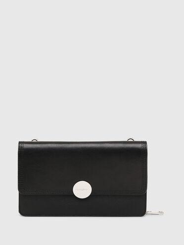 Portefeuille/mini sac avec plaque à logo