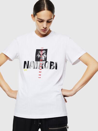Diesel - LCP-T-DIEGO-NAIROBI, Blanc - T-Shirts - Image 2