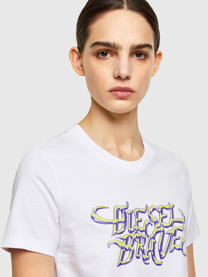 Diesel - T-SILY-K8, Blanc - T-Shirts - Image 3