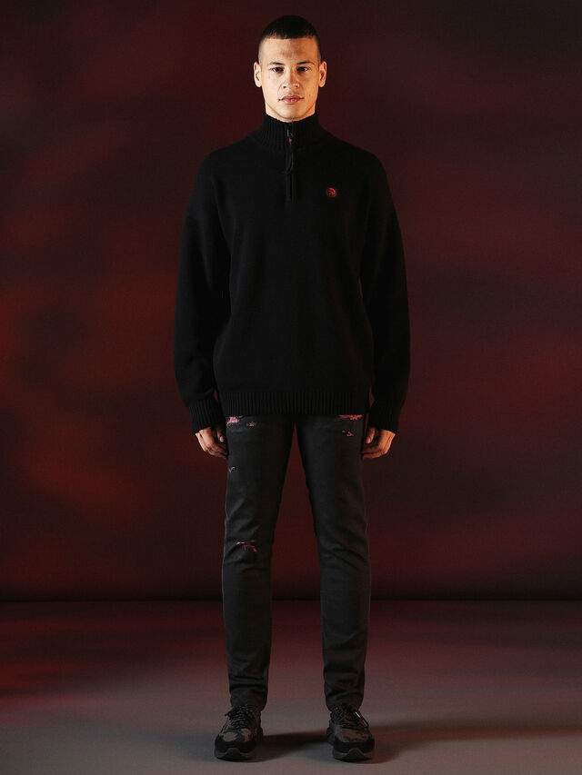 Diesel - DVL-KNIT-SPECIAL COLLECTION, Noir - Pull Maille - Image 3