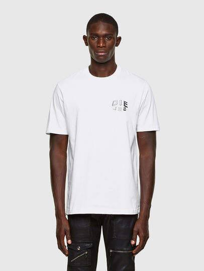 Diesel - T-JUST-SLITS-A30, Blanc - T-Shirts - Image 1