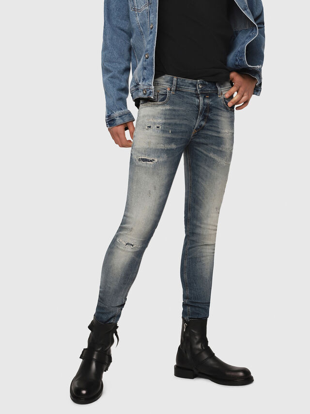 Diesel - Sleenker 069DK, Bleu moyen - Jeans - Image 1