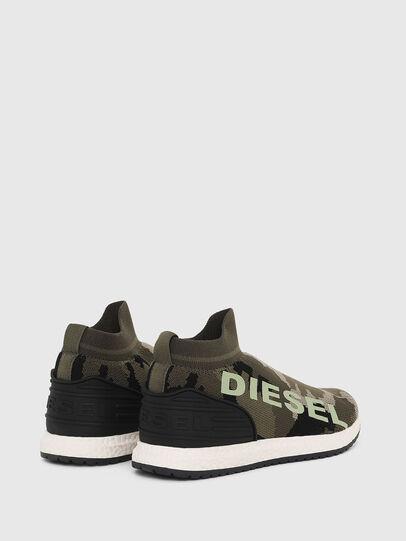 Diesel - SLIP ON 03 LOW SOCK, Vert Camouflage - Footwear - Image 3