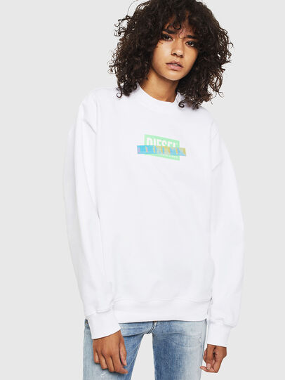 Diesel - F-ANG-S1, Blanc - Pull Cotton - Image 1