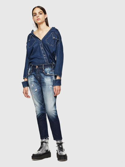 Diesel - Fayza 0092I, Bleu Foncé - Jeans - Image 6