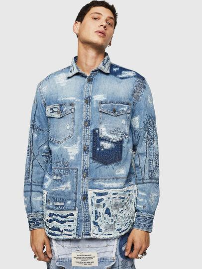 Diesel - D-HISAKY-SY, Jean Bleu - Chemises en Denim - Image 1