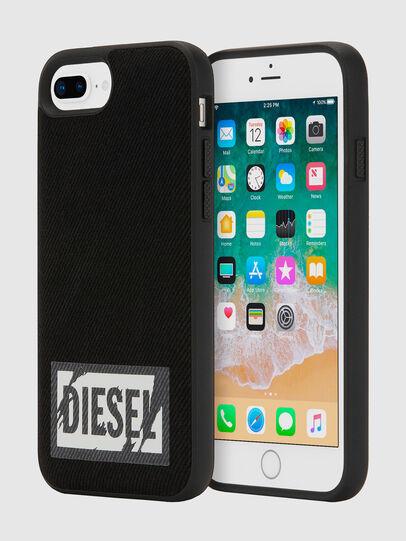Diesel - BLACK DENIM IPHONE 8 PLUS/7 PLUS/6S PLUS/6 PLUS CASE, Noir - Coques - Image 1