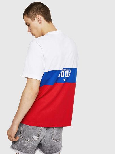 Diesel - T-JUST-A1, Blanc/Rouge/Bleu - T-Shirts - Image 2
