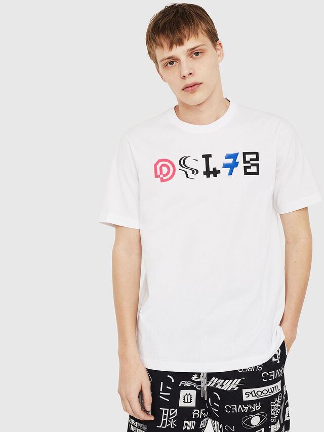 Diesel - T-JUST-Y17, Blanc - T-Shirts - Image 1