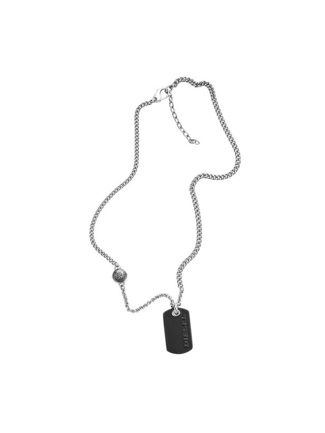 Diesel - NECKLACE DX1012, Gris argenté - Colliers - Image 1