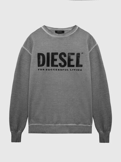 Diesel - S-GIR-DIVISION-LOGO, Gris foncé - Pull Cotton - Image 1