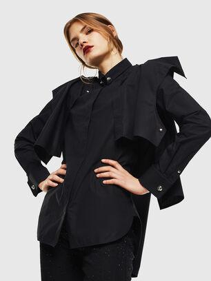 C-RAILY-SHAPED, Noir - Chemises