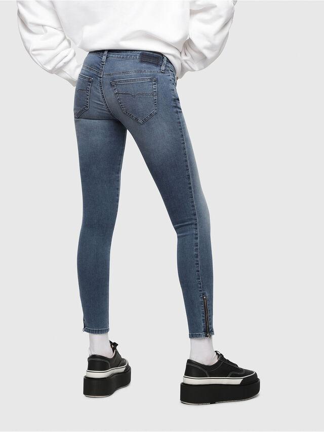 Diesel - Skinzee Low Zip 0681P, Bleu moyen - Jeans - Image 2